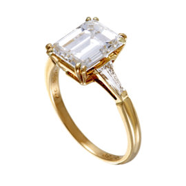 Boucheron 18K Yellow Gold Diamond Engagement Ring Size 5.75