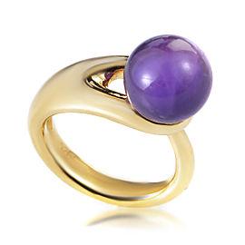Boucheron 18K Yellow Gold Iolite Sphere Ring