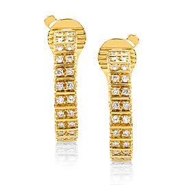 Boucheron 18K Yellow Gold 1.35ct Diamond Hoop Earrings