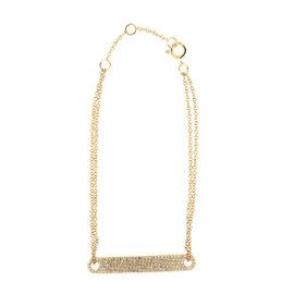 14k Rose Gold and Diamonds Bar ID bracelet