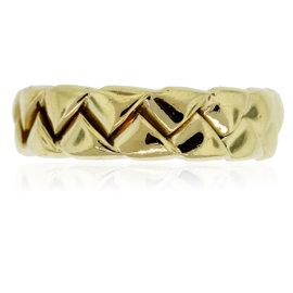Scott Kay 18K Yellow Gold Braided Wedding Band Ring