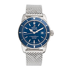 Breitling Superocean Stainless Steel Blue Dial 42mm Mens Watch