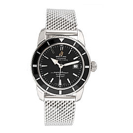 Breitling Superocean Heritage A1732124-BA61SS Stainless Steel Black Dial 42mm Mens Watch
