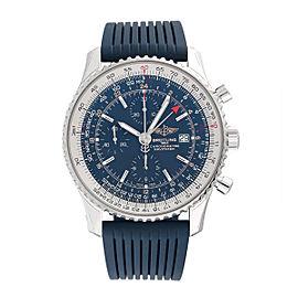 Breitling Navitimer World A2432212-C651BLLT Stainless Steel 46mm Mens Watch