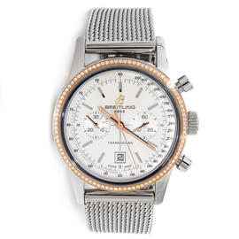 Breitling Transocean Chronograph 38 U4131053/G757 Stainless Steel Watch