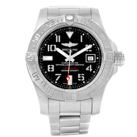 Breitling Aeromarine Avenger II A17331 Stainless Steel & Black Dial 45mm Mens Watch