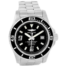 Breitling Aeromarine Superocean A17391 Stainless Steel & Black Dial 44mm Mens Watch