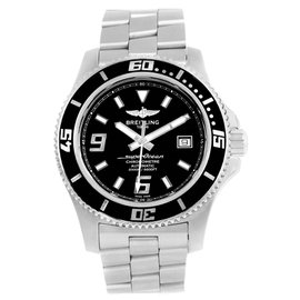 Breitling Superocean A17391 Stainless Steel Black Dial Automatic 44mm Mens Watch