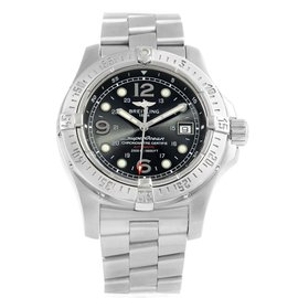 Breitling Aeromarine Superocean A17390 Stainless Steel Black Dial Automatic 44mm Mens Watch