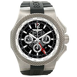 Breitling Bentley A47362 Chronograph GMT Titanium Black Dial 49mm Mens Watch