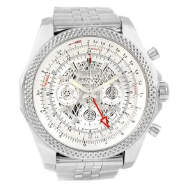 Breitling Bentley GMT AB0431 Stainless Steel Silver Dial Automatic 49mm Mens Watch