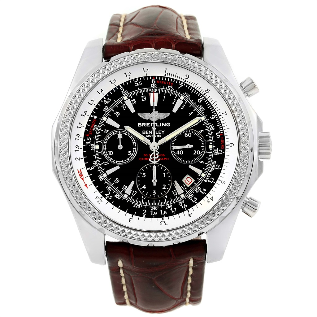"""Image of """"Breitling Bentley Motors A25362 Stainless Steel Black Dial Automatic"""""""