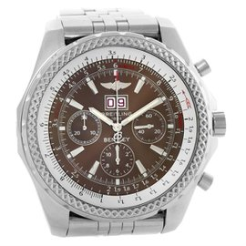 Breitling Bentley Motors A44362 Stainless Steel Chronograph Bronze Dial 48.7mm Mens Watch