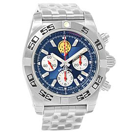 Breitling Chronomat 01 AB0110 Blue Dial Stainless Steel 43.5mm Mens Watch