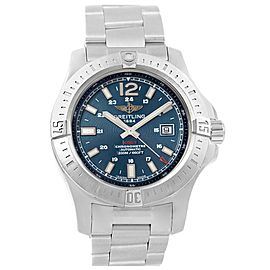 Breitling Colt A17388 Stainless Steel & Blue Baton Dial Automatic 44mm Mens Watch