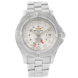 Breitling Colt A32350 Stainless Steel Silver Dial Automatic 40.5mm Mens Watch