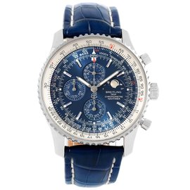 Breitling Navitimer A19370 Stainless Steel & Leather Automatic 46mm Mens Watch