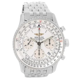 Breitling Navitimer A23322 Stainless Steel Silver Dial Automatic 42mm Mens Watch