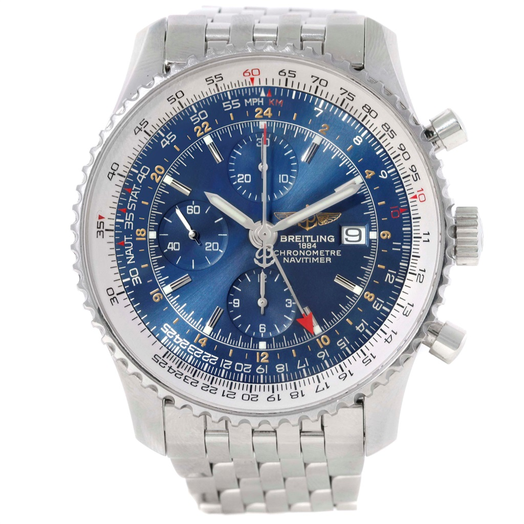 """Image of """"Breitling Navitimer World A24322 Stainless Steel Blue Dial Automatic"""""""
