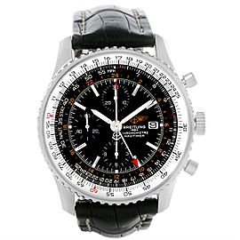 Breitling Navitimer World Chronograph GMT A24322 Stainless Steel 46mm Womens Watch