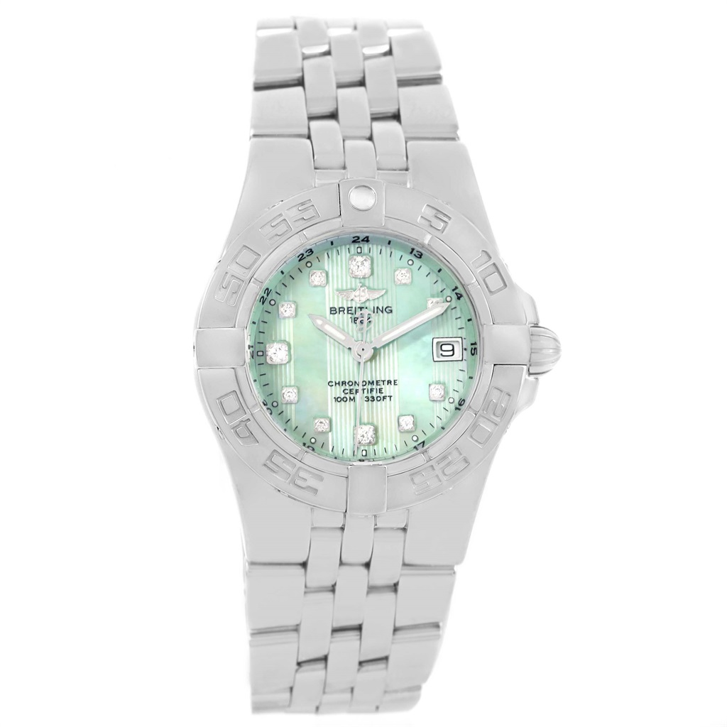 """""""""""Breitling Starliner A71340 Stainless Steel Green Mother of Pearl"""""""""""" 2142059"""