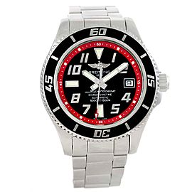 Breitling Superocean A17364 Stainless Steel Black Red Dial Automatic 42mm Mens Watch