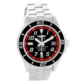 Breitling Superocean A17364 Stainless Steel Black/Red Dial Automatic 42mm Mens Watch