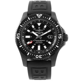 Breitling Superocean M17393 Black Stainless Steel & Rubber Automatic 44mm Mens Watch