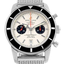 Breitling SuperOcean A23370 Stainless Steel Automatic Silver Dial 46mm Mens Watch