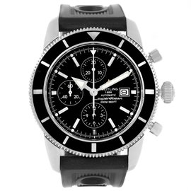 Breitling SuperOcean A13320 Stainless Steel Black Dial Automatic 46mm Mens Watch
