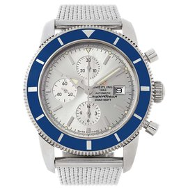Breitling SuperOcean A13320 Stainless Steel Silver Dial Automatic 46mm Mens Watch