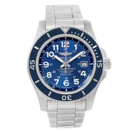 Breitling Superocean II A17392 Stainless Steel Blue Dial Automatic 44mm Mens Watch