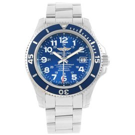Breitling Superocean II A17365 Stainless Steel Blue Dial Automatic 42mm Mens Watch