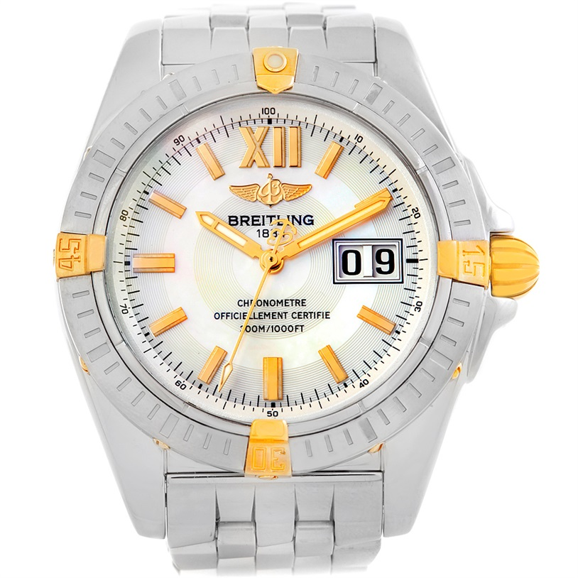 """Image of """"Breitling Windrider Cockpit B49350 Stainless Steel 18K Yellow Gold"""""""