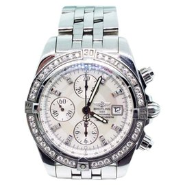 Breitling Chronomat Evolution A13356 Stainless Steel & White Mother of Pearl 44mm Watch