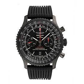 Breitling Navitimer MB012822-BE51BKRD Stainless Steel / Rubber Black Dial Chronograph 46mm Mens Watch