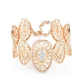 Bucherer 18K Rose Gold Diamond Lace Bracelet