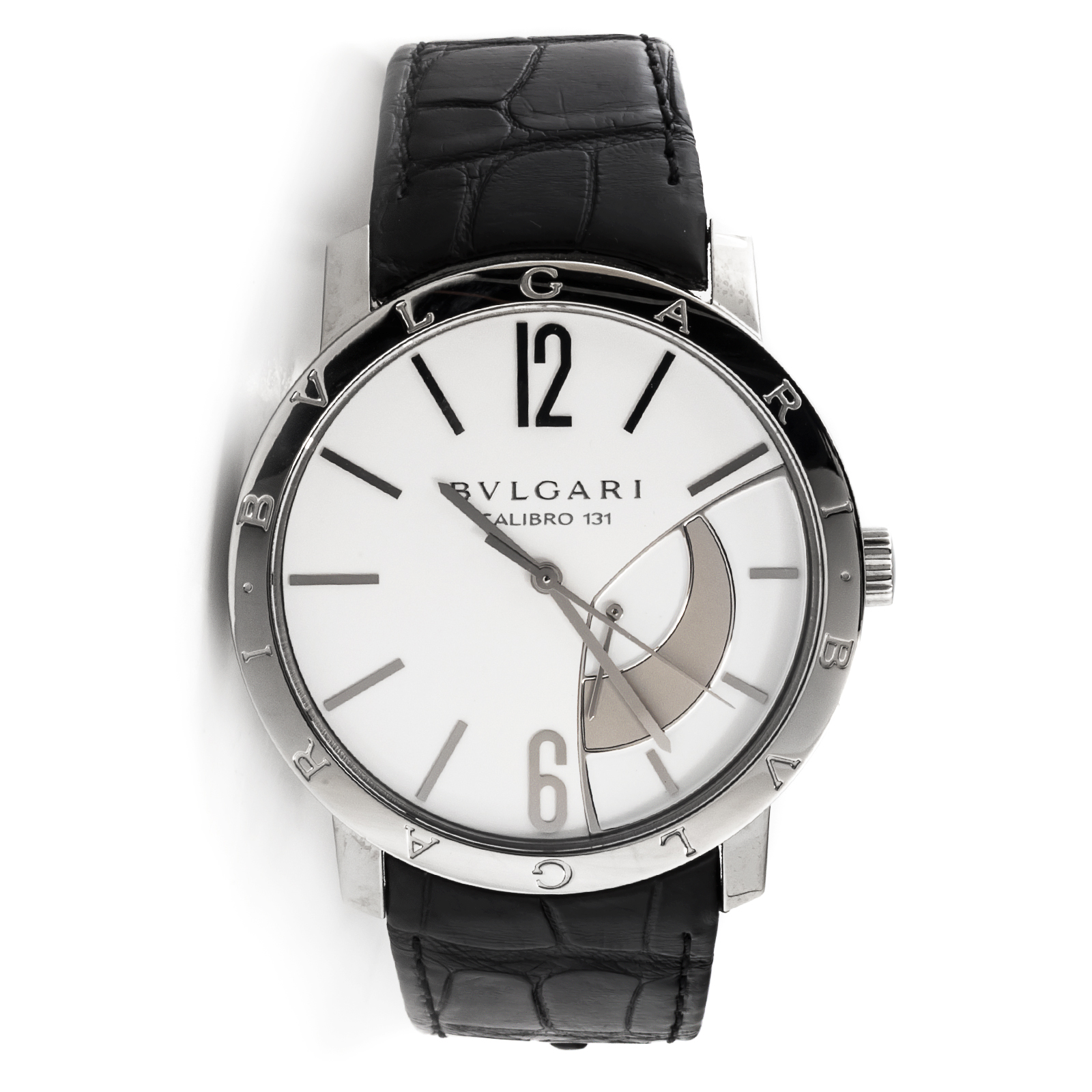 "Image of ""Bulgari Power Reserve 101870 Stainless Steel Mens Watch"""