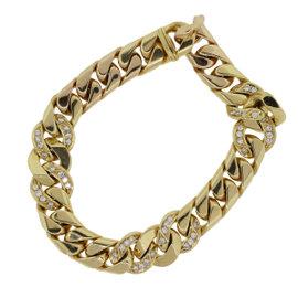 Bulgari 18K Yellow Gold & Diamond Link Bracelet