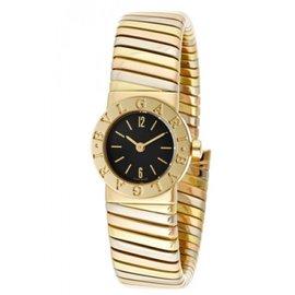 Bulgari BB192TYWP Tubogas 18K Tri Color Gold 19mm Watch