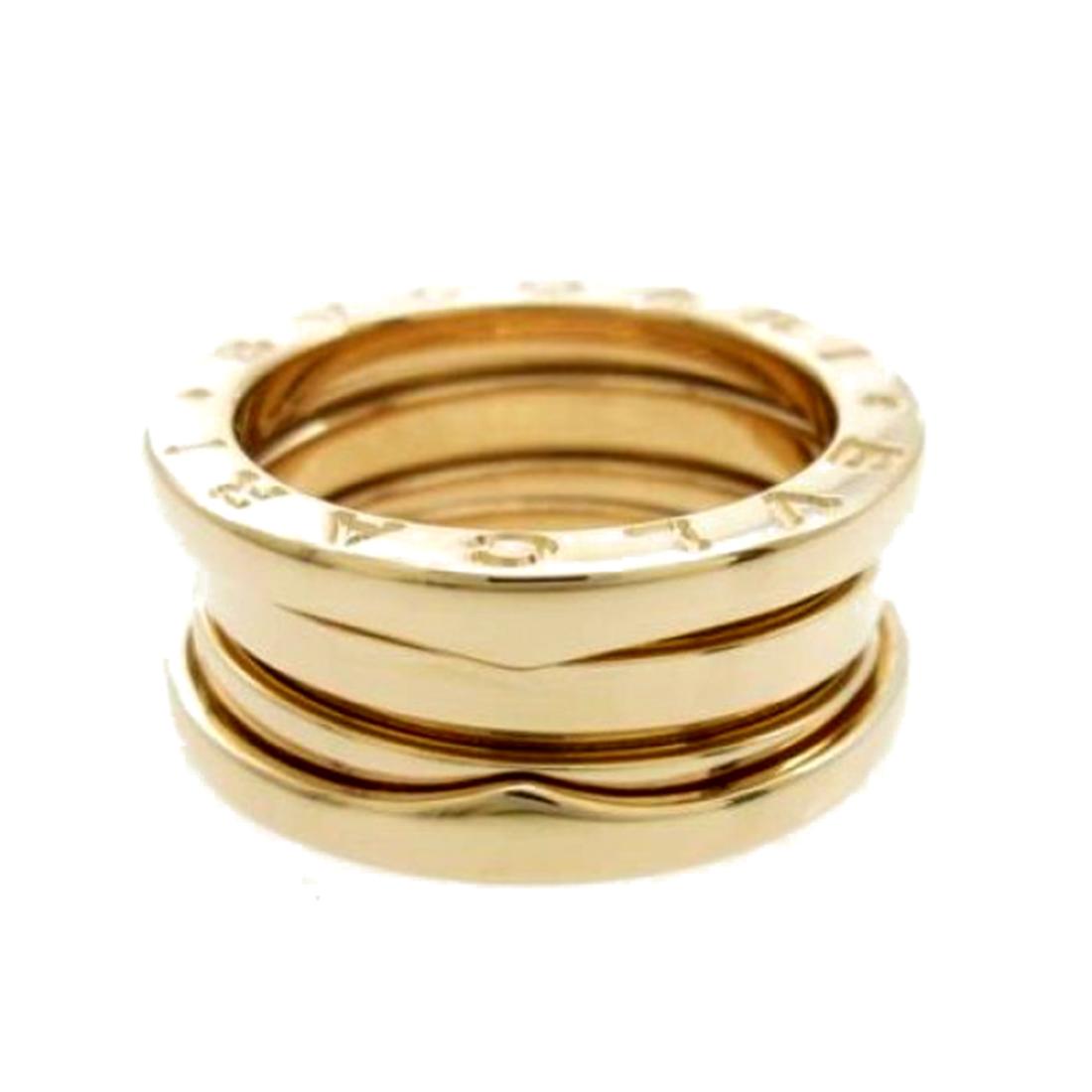 "Image of ""Bulgari 18K Rose Gold B.zero1 3 Band Ring Size 4.75"""
