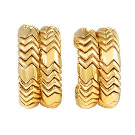 Bulgari 18K Yellow Gold Spiga Clip-on Earrings