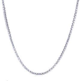 Bulgari 18K White Gold Diamond Tennis Collar Necklace