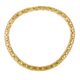 Bulgari Alveare 18K Yellow Gold Choker Necklace