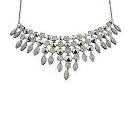 Bulgari 18K White Gold and Pave Diamond Necklace
