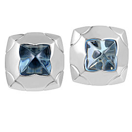 Bulgari Piramide 18K White Gold Topaz Clip-on Earrings