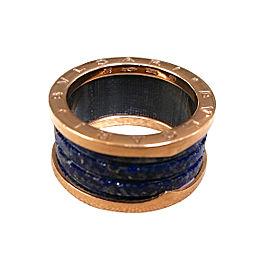 bulgari b zero rose gold and lapis ring size 875