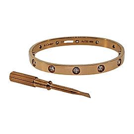 Cartier 18K Pink Gold Diamonds Love Bracelet