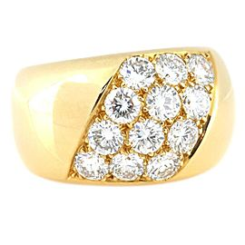 Cartier 18K Yellow Gold & Diamond Ring Size 6.25
