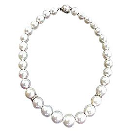 White Gold With South Sea Pearl & Pave Diamonds Necklace